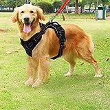 Hundegeschirr einstellbar weich Brustgeschirr sicher Kontrolle bequem Hunde Leine für Hunde Haustier (L)