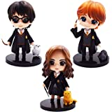 Cake Topper - YUESEN 3pcs Harry Potter Mini Figuras Niños Mini Juguetes Baby Shower Fiesta de cumpleaños Pastel Decoración Su