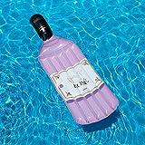Bouteille de piscine gonflable Funshine - couleur rose - bouteille flottante