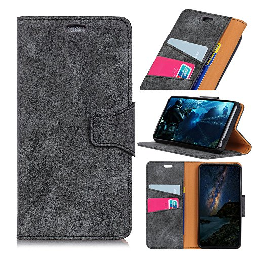 Casefirst Motorola Moto Z2 Play wallet case Motorola Moto Z2 Play case,Premium Design PU Leather & Soft TPU Built-In Card/Cash Slots,Wallet Case By (Grey) Motorola Soft Leather Carry Case