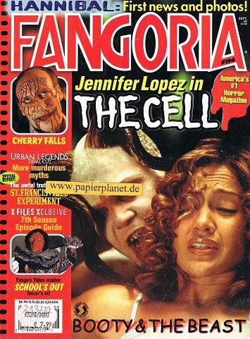 Fangoria Issue # 196 THE CELL Jennifer Lopez CHERRY FALLS School\'s Out (Horror Magazine)