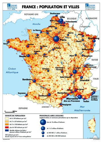 Carte France population econo