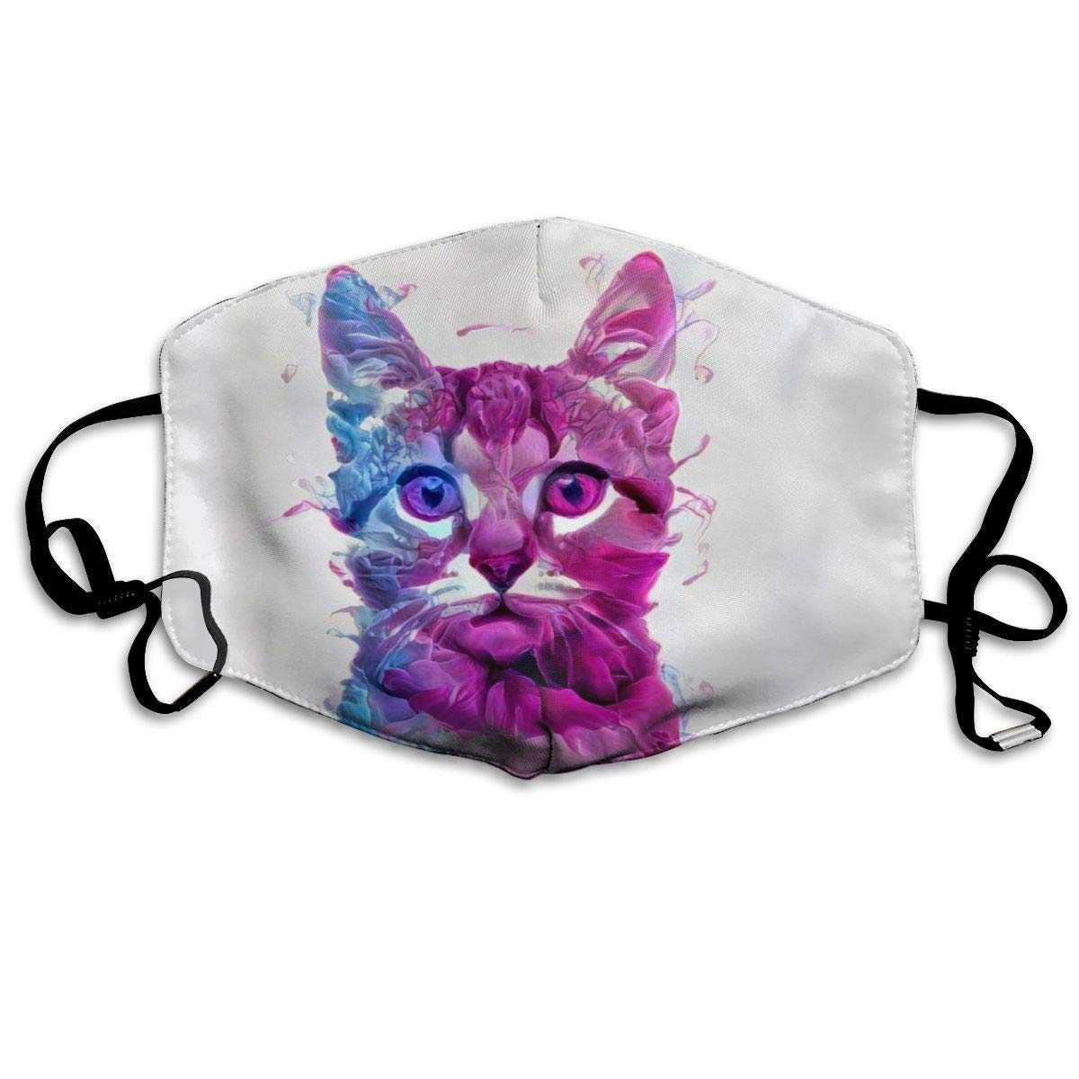 Daawqee Máscara de Boca, Unisex Colorful Cat Reusable Face Mouth Cover Mask Windproof Mask Breathable 7 X 4.3 in