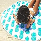 OverDose Round Beach Pool Home Shower Towel Blanket Yoga Mat Picnic Table Cloth