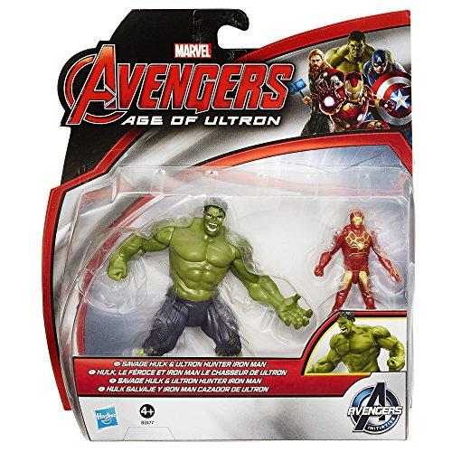 Image of Marvel Avengers Age of Ultron Savage Hulk Vs Ultron Hunter Iron Man