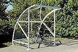 Fahrradüberdachung , Fahrradunterstand mit Bogendach