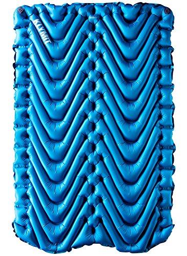 Klymit Unisex Termica V New Sleeping Pad per Campeggio, Blue/Charcoal Black
