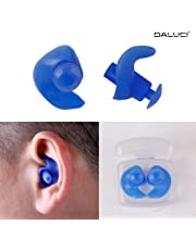DALUCI 1 Pair Hot Waterproof Swimming Professional Silicone Swim Earplugs for Adult Swimmers Children Diving Soft Anti-Noise Ear Plug - Blue