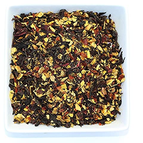 Tealyra - Ginger Treasure - Herbal Loose Leaf Tea - Caffeine Free - Immunity Booster - Organically Processed Healthy Tea Blend - 110g