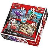 Trefl 34107 - Puzzle 4-in-1, Disney Cars, Reise Set