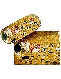VON LILIENFELD Estuche Gafas Funda Mujer Motivo Arte Gustav Klimt: El beso