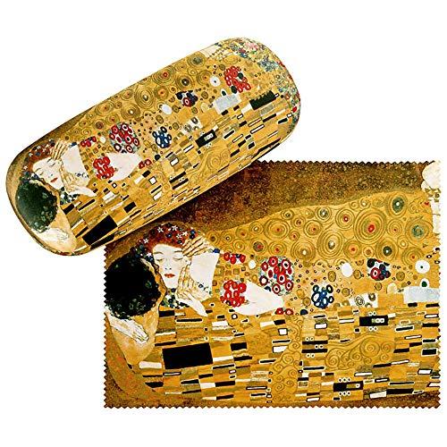 VON LILIENFELD Brillenetui Hardcase Box Kunst Motiv Gustav Klimt: Der Kuss