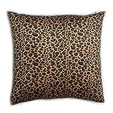 Ruth und Boas Animal Print kurzes Kunstfell Überwurf Kissen Fall Decor Kissenbezug, Polyester, leopardenmuster, 40,64 cm x 40,64 cm