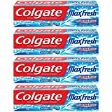 Colgate Maxfresh Blue Gel Peppermint Ice Toothpaste - 150 G (Buy 3 Get 1 Free)