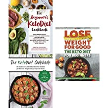 Beginners keto diet cookbook, ketodiet cookbook and keto diet for beginners 3 books collection set