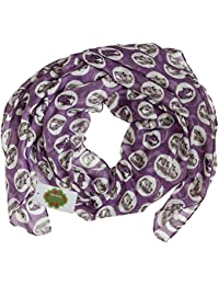 New with Tags Camper Van Print Design Women's Scarves Large Scarfs Shawl (Purple lilac)