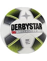 10er Paket Derbystar Brillant TT Fußball Trainingsball -weiß schwarz gelb- Größe 5