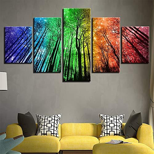 Comecong Dekorative Malerei,Inkjet Home Wohnzimmer Wulian Wald Baum landschaftsmalerei Wand Sofa Hintergrund wandmalerei Kunst malerei 9 malerei Kern 10x15cmx2 10x20cmx2 10x25cmx1