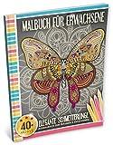 Malbuch für Erwachsene: Elegante Schmetterlinge (Kleestern®, A4 Format, 40+ Motive) (A4 Malbuch für Erwachsene)