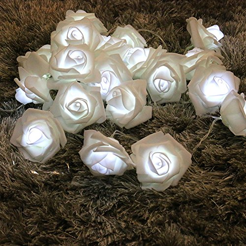 Lights, 3M 30LED Rose Flower Lamp Fairy Light für Hochzeit Garten Party Halloween Weihnachten, Bar, Club, Indoor Dekoration (Weiß) (Andere Namen Für Halloween)