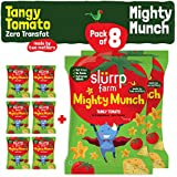 Slurrp Farm Mighty Puff - Tangy Tomato with zero transfat (Pack of 8)
