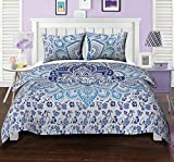 #2: Queen Cotton Mandala Duvet Cover Set Printed Floral Ethnic Blue Quilt Cover By Stylo Culture