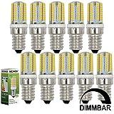 MENGS® 10 Stück Dimmbar E14 LED Lampe 3W AC 220-240V Warmweiß 3000K 64x3014 SMD Mit Silikon Mantel
