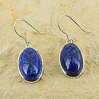 D? Ohrringe Oval längliche Naturstein und Silber 925–Lapis Lazuli preisvergleich bei billige-tabletten.eu