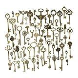 Toy - KING DO WAY 69 Retro Bronze Schlüssel Anhänger Schmuck Steam Punk Deko Für Halskette Kette