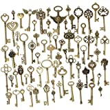 KING DO WAY 69Pcs Breloque Clé/Clef en Alliage de Zinc Antique Bijoux Retro Breloque Pendentif Main DIY
