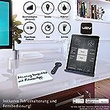 DESKFIT DFT200 Laufband für / unter Schreibtisch - fit und gesund im Büro & zu Hause. Bewegen und ergonomisches Arbeiten, keine Rückenschmerzen - mit praktischer Tablet-Halterung, Fernbedienung und App (Dunkelbraun) - 6