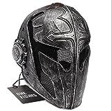 OneTigris Taktisch Vollgesichtsschutz Ritterhelm Fechten Schutzmaske Templar Maske für Herren