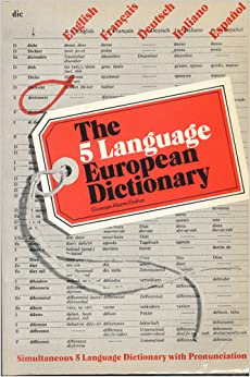 Five-language European Dictionary: English, French, German, Italian and Spanish