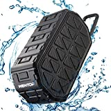 WenTop Bluetooth Speaker,IP66 Waterproof Bluetooth Speaker,10W Drivers,4.2 Bluetooth Technology,Stereo Portable Speaker with 24-Hour Playtime, High Quality Built-in Microphone for Calls for iPhone, iPod, iPad, Samsung,LG and others