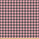 ABAKUHAUS Rosa Palido Tela por Metro, Pastel Pata De Gallo, Microfibra Decorativa para Artes y Manualidades, 1M (160x100cm), Rosa Pálido Gris Carbón