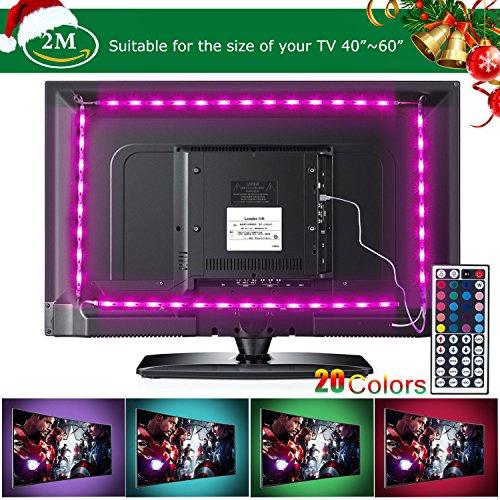 Tiras LED de Luz TV SMD 5050 RGB 20 Modo de Color...