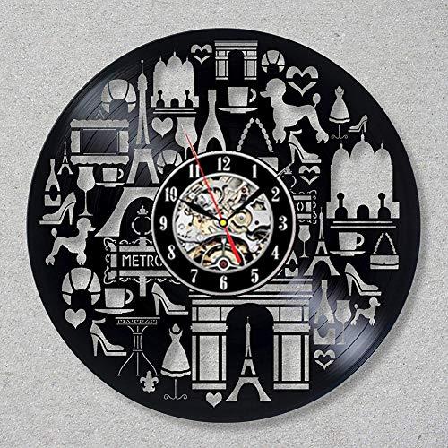 ClockGH Schallplatte Wanduhr Modernes Design Shopping Haven Kosmetik Parfüm Dekorative Shop Vinyl Uhr Wanduhr Wohnkultur
