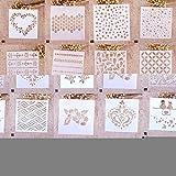 Zhuotop Schablonen, für Mode, Druck, Zeichnen, Airbrush, Malen, Handwerk, Scrapbooking, Album, Dekoration, 01, 01#