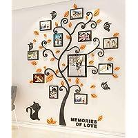 Stickers Muraux Arbre Cadre de Photo 3D DIY Mural Autocollants Arts Décoration de la Maison pour Chambre, Salon, Chambre…