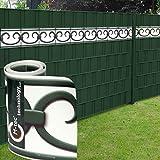 M-tec design Design Sichtschutzstreifen/PVC/19cm x 2,85m (HxL) ✔ Motiv Prag Deko ✔ Weiß-Grün ✔ 3 Streifen ✔ - Sie KAUFEN Hier Direkt Beim Hersteller -