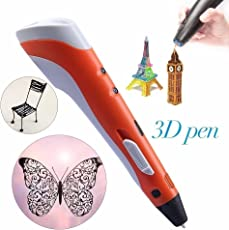 REES52 3D Printing Pen, 3 Pieces, 1.75mm (Orange)