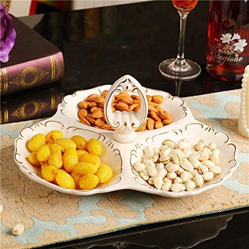 Whh Continental Candy Dish, frutta secca in ceramica piastra, moderno