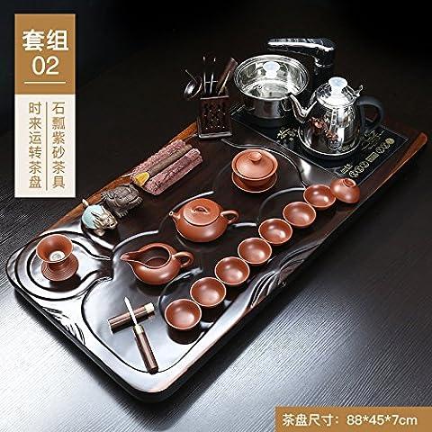 Kitoku automatique à thé en bois foncé Thé ROM Définit, 02