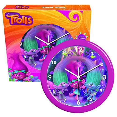 Reloj de pared de los trolls (25x 25cm)