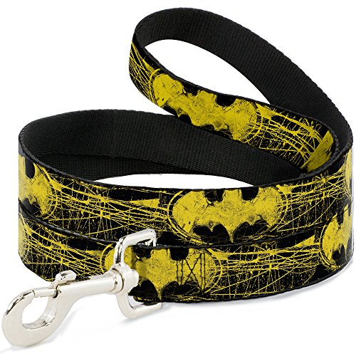 Buckle Down dl-6ft-wbm039-n schwarz/gelb Batman Pet Leine, 6 Füße long-1/5,1 cm breit -