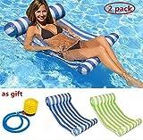 XM Accessori di nuoto dell'attrezzatura della piscina del materasso gonfiabile dell'aria del galleggiante della piscina dell'amaca dell'acqua di viaggio dell'amaca 2Pack / Lot (blue+green)