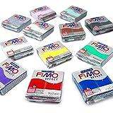 FIMO Effektmodellierpaste Starter-Packung - 12 x 57g - Mehrfarbblöcke