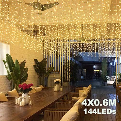 Cortina Luces LED Avoalre 4 * 0.6m/144 LED Guirnalda