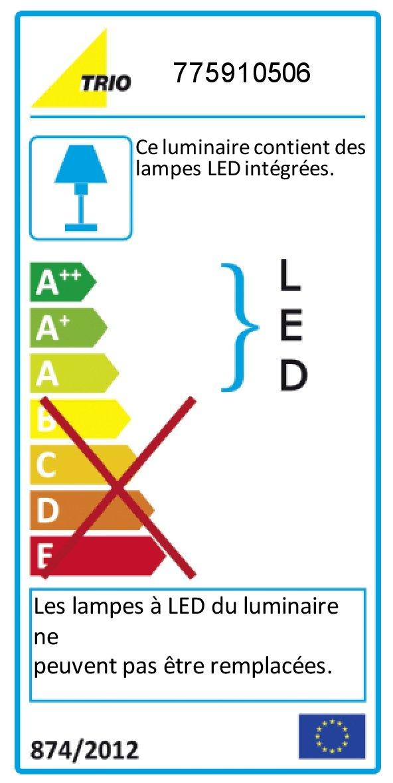 Trio Leuchten 770010587 – Sistema LED a filo, modello Basic, colore titanio