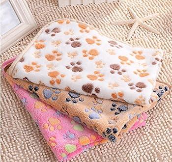 Daorier douce en velours pour animal domestique Couverture pour chiot Chat 76× 53cm